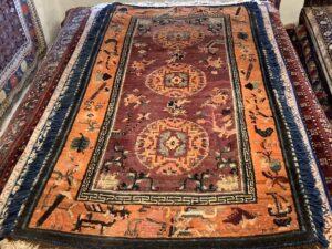 Antik Tibetaner tæppe