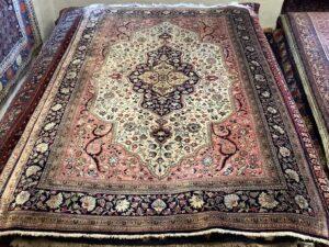 Iransk Silke Qum tæppe