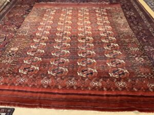 Turkmensk Bochara hovedtæppe tæppe