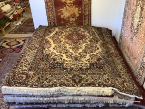 Vintage persisk Kirman tæppe